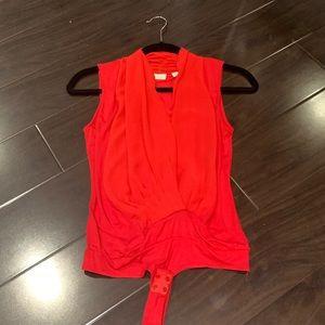 New York & co Eva mendes red bodysuit xs top
